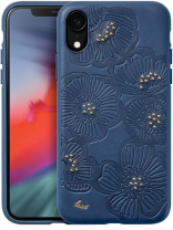 Чехол LAUT FLORA для iPhone XR - Blue (LAUT_IP18-M_FL_BL)