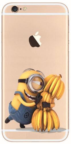 TPU чехол EGGO для Apple iPhone 5/5S/SE (Миньон с бананами)