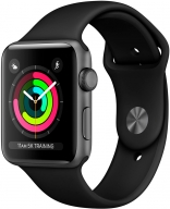 Apple Watch Series 3 GPS 42mm Space Gray Aluminum w. Black Sport B. - Space Gray (MQL12)