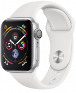 Apple Watch Series 4 GPS 44mm Silver Aluminum w. Fog Sport B. - Silver (MU6A2)