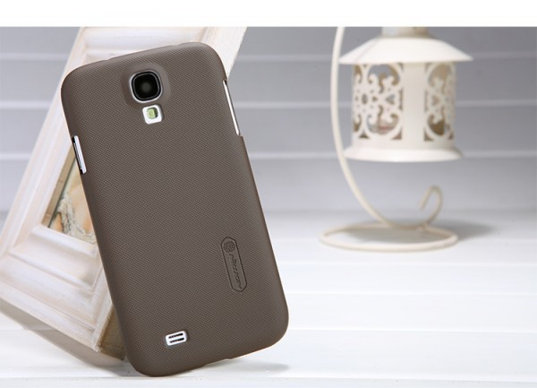 Чехол Nillkin Matte для Samsung i9500 Galaxy SIV (+ пленка) (Коричневый)