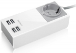 Зарядное Macally 4USB (2.1A+1A) White (UNISTRIP2-EU)