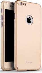 Чехол 3in1 iPaky 360 PC Whole Round для iPhone 6 / 6s (Gold | With Back Hole+ стекло)