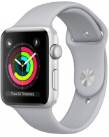 Apple Watch Series 3 GPS 42mm Silver Aluminum w. Fog Sport B. - Silver (MQL02)