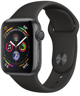 Apple Watch Series 4 GPS 40mm Space Gray Aluminum w. Black Sport B. - Space Gray (MU662) - ITMag