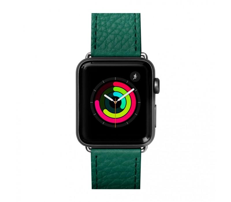 Купить Аксессуары Apple Watch, Кожаный ремешок для Apple Watch 42/44 mm LAUT MILANO Emerald (LAUT_AWL_ML_GN)