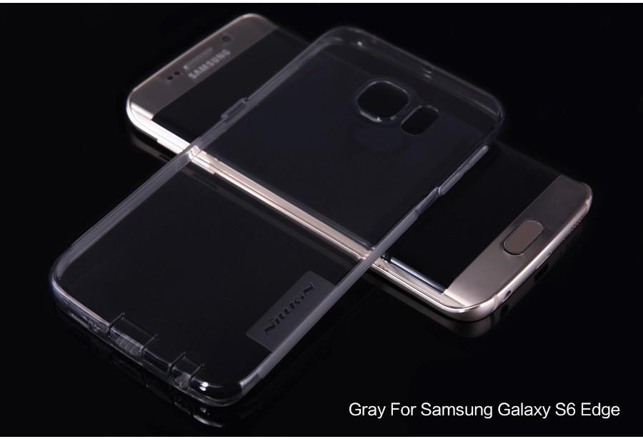 TPU чехол Nillkin Nature Series для Samsung G925F Galaxy S6 Edge (Серый (прозрачный))