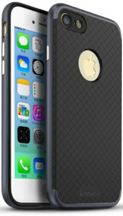 "Чехол iPaky TPU+PC для Apple iPhone 7 plus (5.5"") (Черный / Серый)"