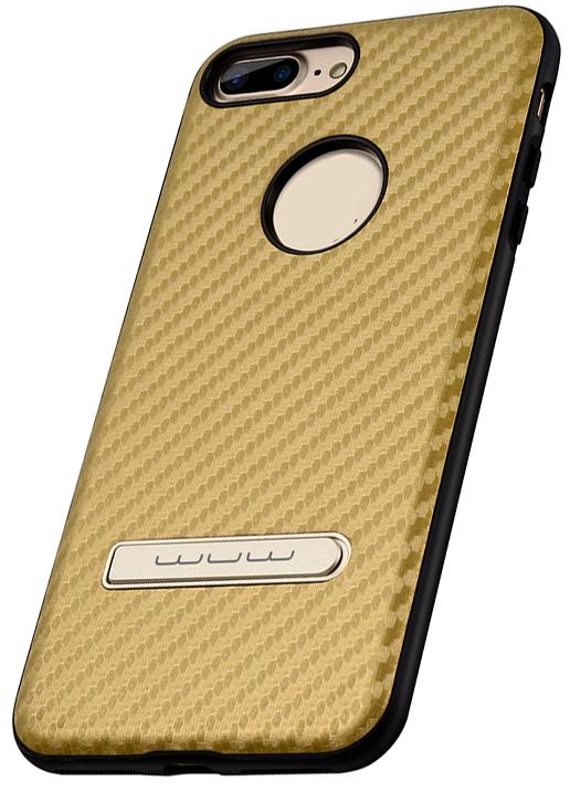 Накладка WUW для iPhone 7 Plus (Коричневый карбон)