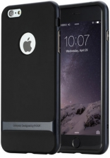 "TPU+PC чехол Rock Royce Series для Apple iPhone 7 plus (5.5"") (Черный / Синий)"