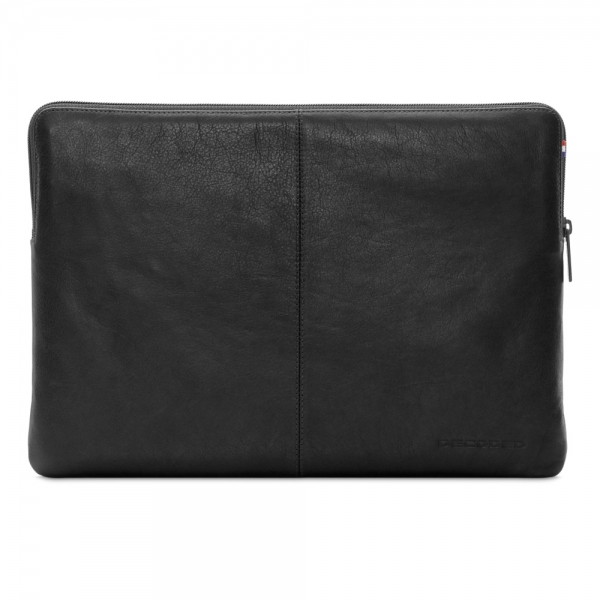 """DECODED Leather Slim Sleeve with Zipper for MacBook 12"""" Black (D4SS12BK)"""