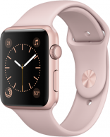 Apple Watch Series 1 42mm Gold Aluminum Case with Pink Sand Sport Band (MQ112)