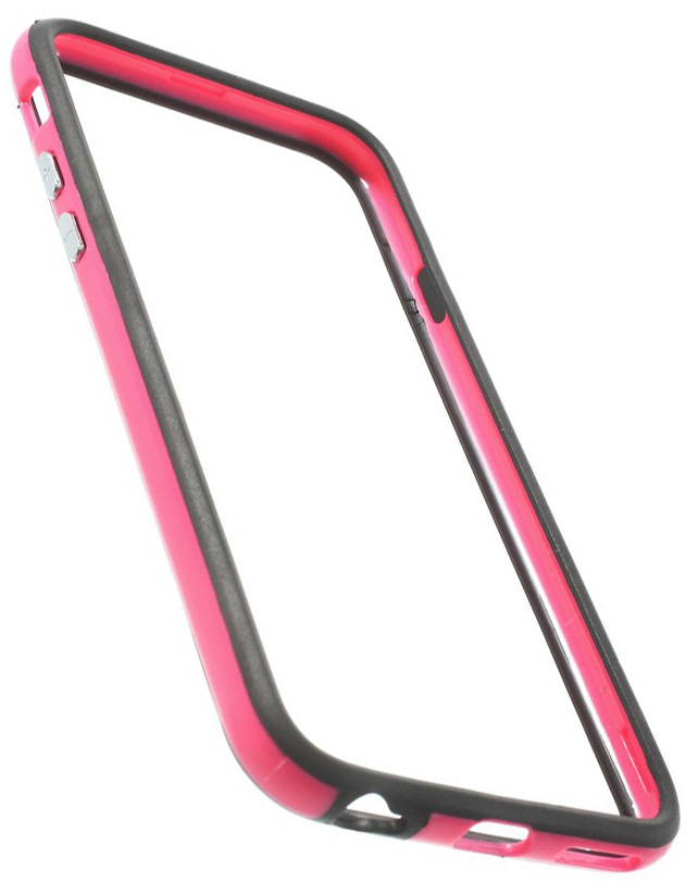 TPU бампер EGGO для iPhone 6/6S - Black / Rose