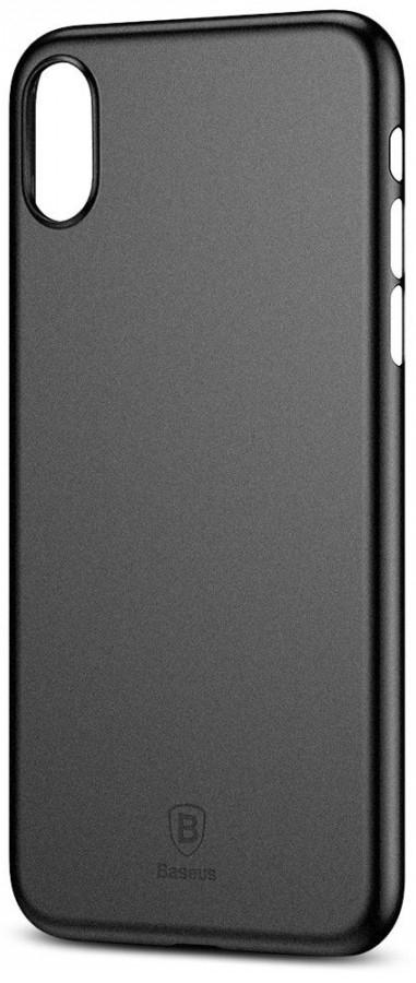 "TPU чехол Baseus Wing Case для Apple iPhone X (5.8"") (Черный / Transparent black) (WIAPIPHX-01)"
