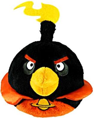 "Angry Birds 5"" Space Black Bird Plush with sound - ITMag"
