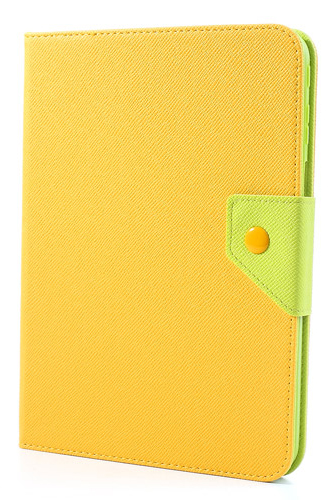 Чехол EGGO двухцветный Leather Stand Case for Samsung Galaxy Tab 3 10.1 P5200/P5210 (Green / Yellow)