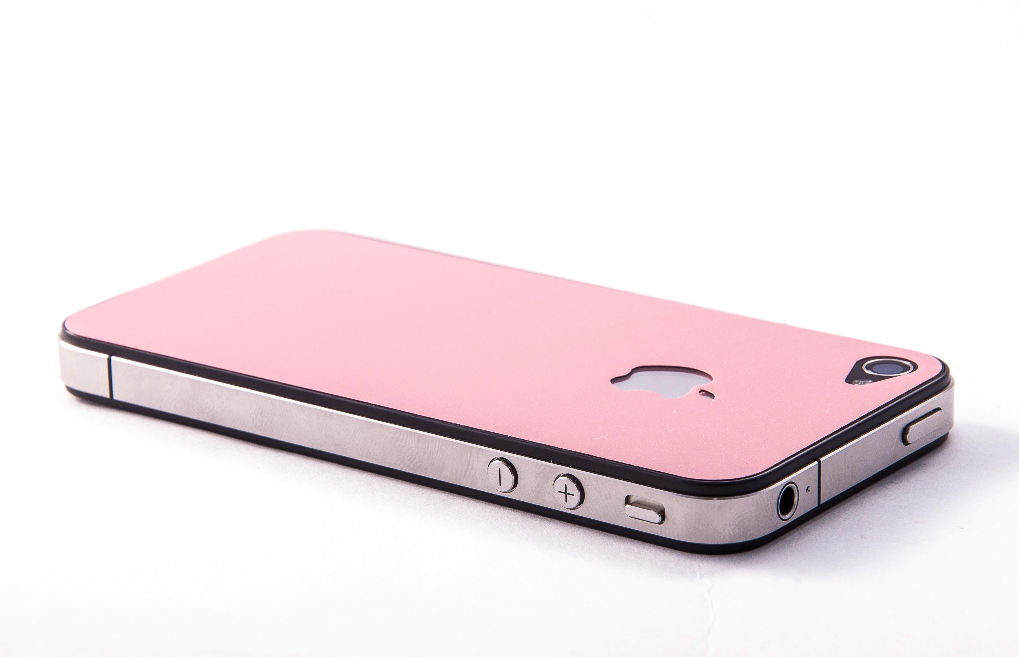 Пленка защитная EGGO iPhone 4/4S Crystalcover pink BackSide (розовая, перламутровая)