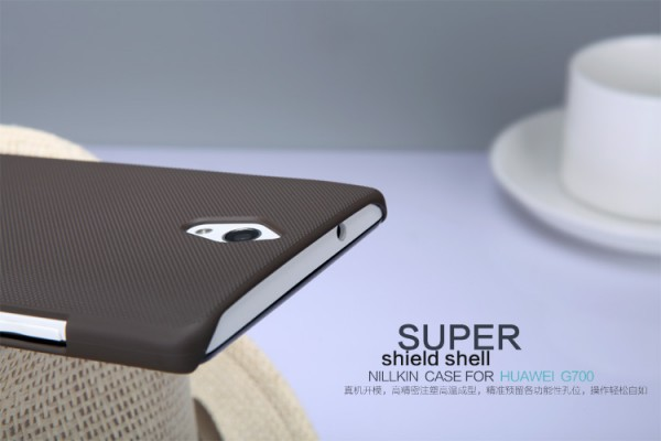Чехол Nillkin Matte для Huawei Ascend G700 (+ пленка) (Коричневый)