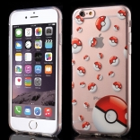 TPU чехол EGGO Pokemon Go для iPhone 6 Plus/6S Plus (Poke Balls (прозрачный))