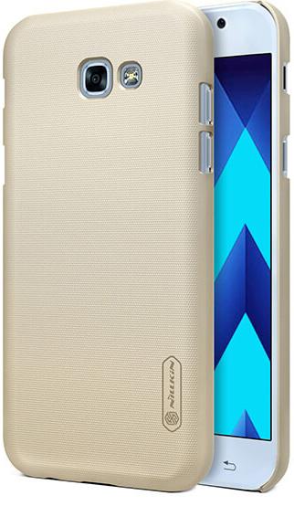 Чехол Nillkin Matte для Samsung A520 Galaxy A5 (2017) (+ пленка) (Золотой)