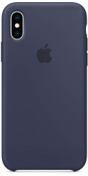 Apple iPhone XS Silicone Case - Midnight Blue (MRW92)