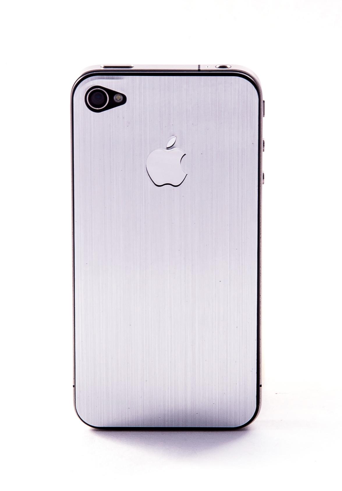 Пленка защитная EGGO iPhone 4/4S Crystalcover silver BackSide (серый, металлик)