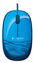 Logitech M105 Corded Optical Mouse (Blue)