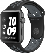Apple Watch Nike+ 42mm Space Gray Aluminum Case with Black/Cool Gray Nike Sport Band (MNYY2)