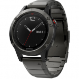 Garmin fenix 5 Sapphire Edition Multi-Sport Training GPS Watch (Slate Gray, Metal Band) (010-01688-20)