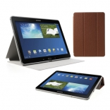 Чехол Crazy Horse Tri-fold with Wake Up for Samsung Galaxy Note 10.1 (2014) P600/P601/P605 Brown