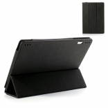 Чехол EGGO Tri-fold Cross Pattern Leather Case для Lenovo IdeaTab S6000 (Черный / Black)
