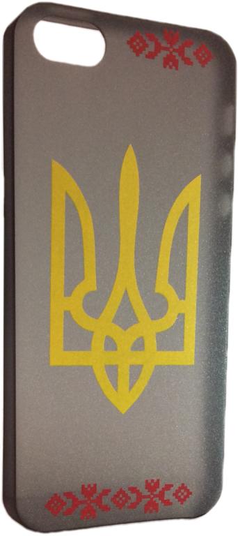 Накладка EGGO для iPhone 5/5S Черная с Гербом Украины