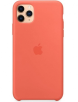 Apple iPhone 11 Pro Max Silicone Case - Clementine/Orange (MX022) Copy