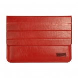 Чехол OATSBASF Genuine Leather для Macbook Air/Pro 13.3 (Red/Красный)