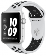 Apple Watch Nike+ Series 3 (GPS) 42mm Silver Aluminum w. Pure Platinum/BlackSport B. (MQL32)