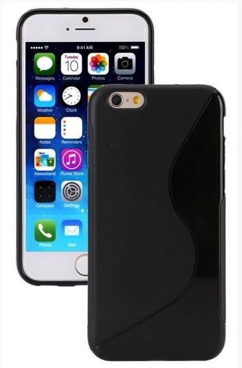TPU Duotone Apple iPhone 6/6S Черный (матово/прозрачный)