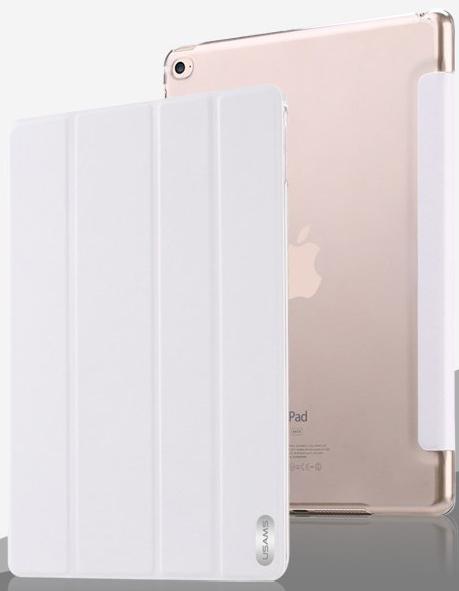 Чехол USAMS Viva Series for iPad Air 2 Slim Four-fold Stand Smart Leather Case - White