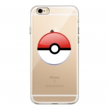 TPU чехол EGGO Pokemon Go Poke Ball для iPhone 6 Plus/6S Plus (Red)