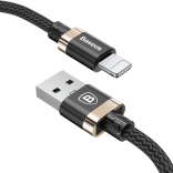 Кабель Baseus Golden Belt Series USB Cable For IP 1M Black + gold (CALGB-1V)