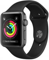 Apple  Watch Series 3 GPS 38mm Space Gray Aluminum w. Gray Sport B. - Space Gray (MR352)