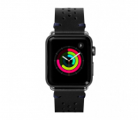 Кожаный ремешок для Apple Watch 42/44 mm LAUT HERITAGE Jet Black (LAUT_AWL_HE_BK)