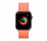 Кожаный ремешок для Apple Watch 42/44 mm LAUT MILANO Coral (LAUT_AWL_ML_P)