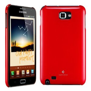 Накладка SGP Ultra Thin Series для Samsung N7000 Galaxy Note (+ пленка) (Красный / Dante Red) - ITMag