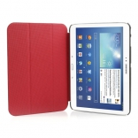 Чехол Crazy Horse Tri-fold Leather Folio Cover Stand Red for Samsung Galaxy Tab 3 10.1 P5200/P5210