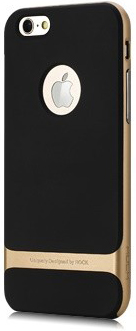 "TPU+PC чехол Rock Royce Series для Apple iPhone 6 Plus/6S Plus (5.5"") (Черный / Золотой) - ITMag"