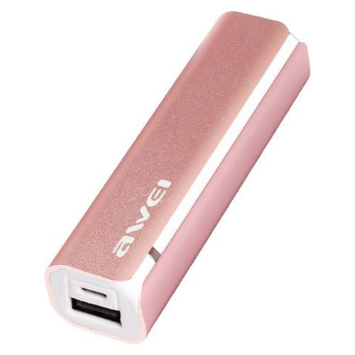 Awei Power Bank P90k 2600 mAh Pink
