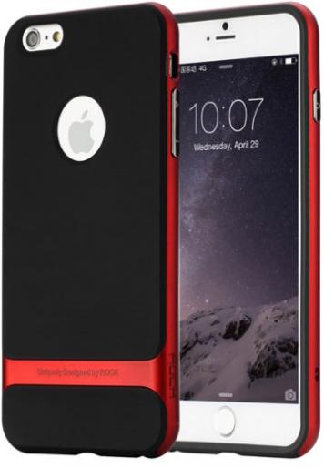 "TPU+PC чехол Rock Royce Series для Apple iPhone 7 plus (5.5"") (Черный / Красный)"