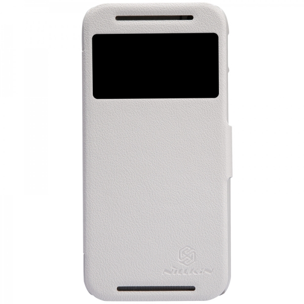 Кожаный чехол (книжка) Nillkin Fresh Series для HTC New One 2 / M8 (Белый)