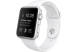 Apple Watch 42mm Silver Aluminum Case with White Sport Band (MJ3N2)