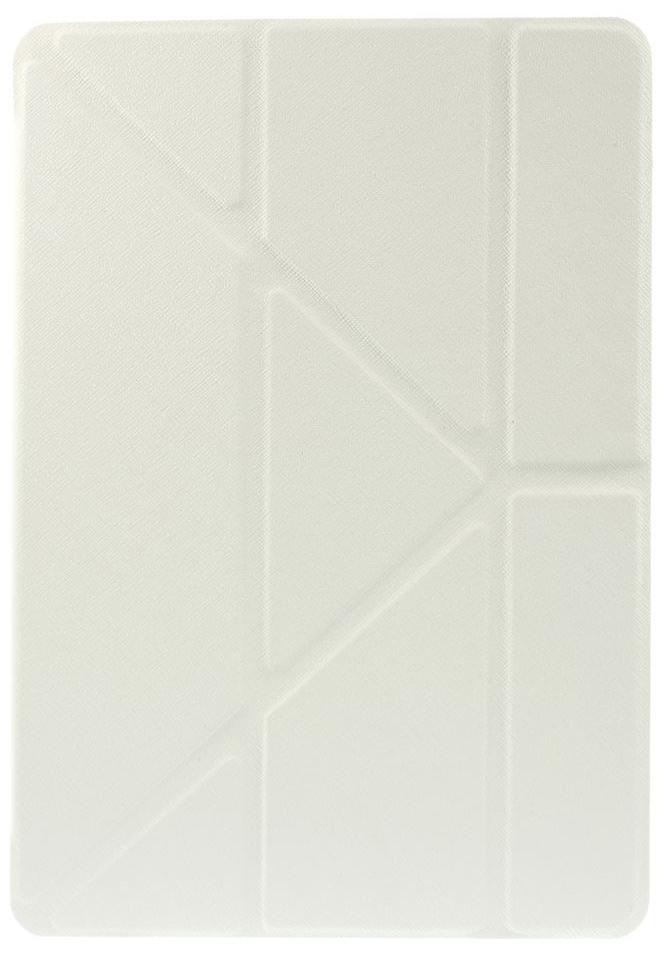 Чехол EGGO для iPad Air 2 Cross Texture Origami Stand Folio - White